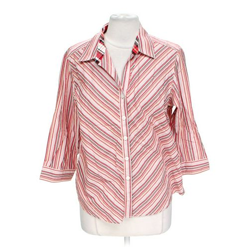 Pappagallo Button-up Shirt in size L at up to 95% Off - Swap.com