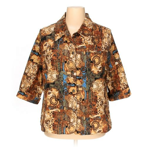 Samantha's Style Shoppe Button-up Shirt in size 2X at up to 95% Off - Swap.com