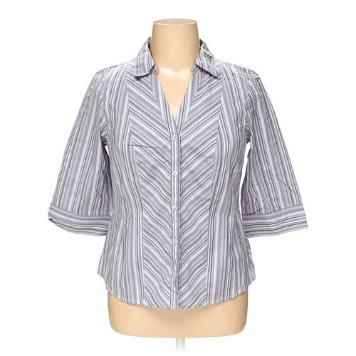 Style & Co Button-up Shirt in size 14 at up to 95% Off - Swap.com