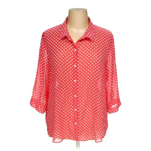 Susan Graver Button-up Shirt in size 1X at up to 95% Off - Swap.com