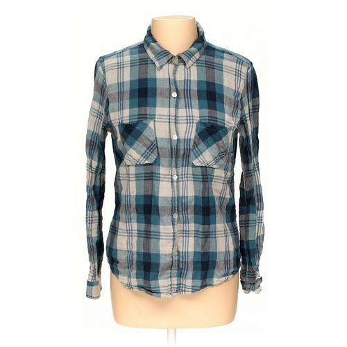 Velvet Button-up Shirt in size M at up to 95% Off - Swap.com