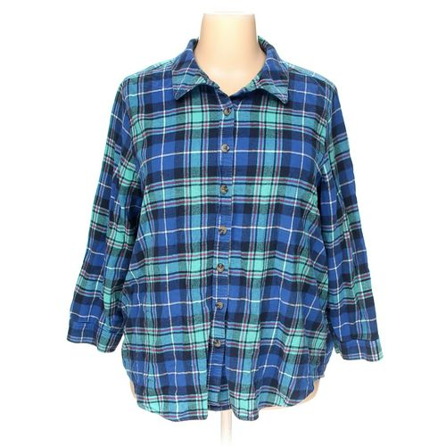 Woman Within Button-up Shirt in size 2X at up to 95% Off - Swap.com