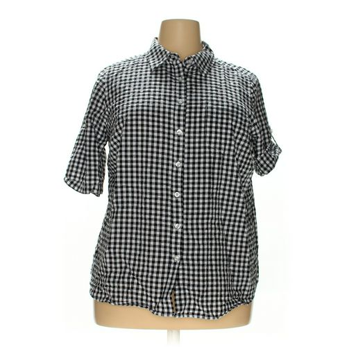 Woman Within Button-up Shirt in size 18 at up to 95% Off - Swap.com