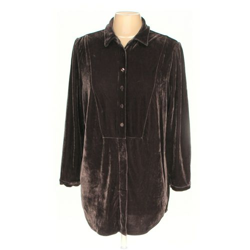 Woman Within Button-up Shirt in size M at up to 95% Off - Swap.com