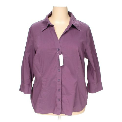 Worthington Stretch Button-up Shirt in size 3X at up to 95% Off - Swap.com