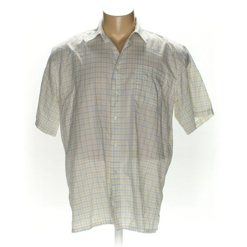 Basic Editions Button-up Short Sleeve Shirt in size 2XL at up to 95% Off - Swap.com