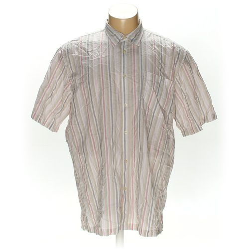 Basic Editions Button-up Short Sleeve Shirt in size 3XL at up to 95% Off - Swap.com