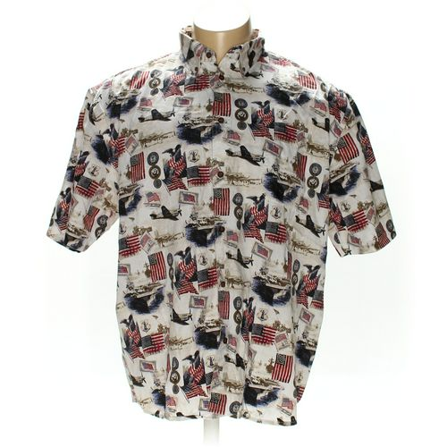 Cotton Traders Button-up Short Sleeve Shirt in size XXL at up to 95% Off - Swap.com