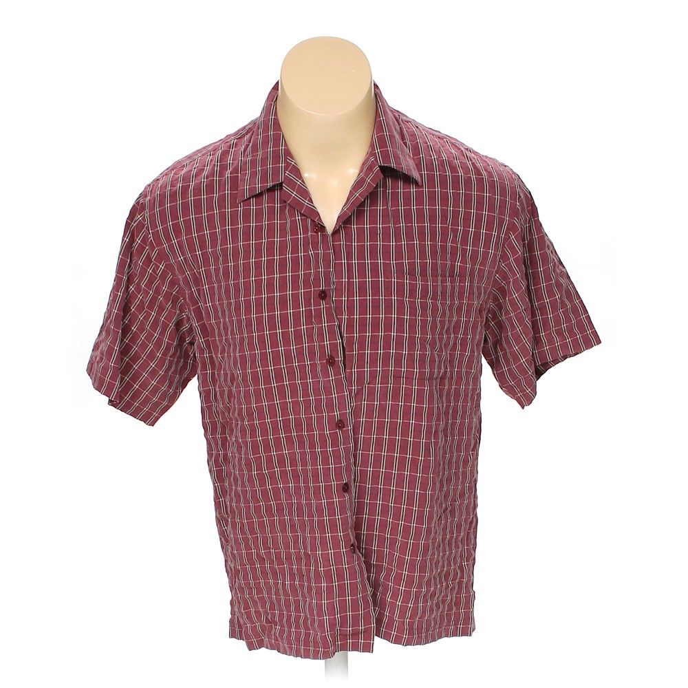 39885184 Haggar Button-up Short Sleeve Shirt in size L at up to 95% Off