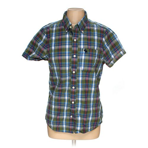 Hollister Button-up Short Sleeve Shirt in size M at up to 95% Off - Swap.com