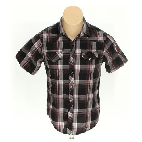 Red Snap Button-up Short Sleeve Shirt in size M at up to 95% Off - Swap.com