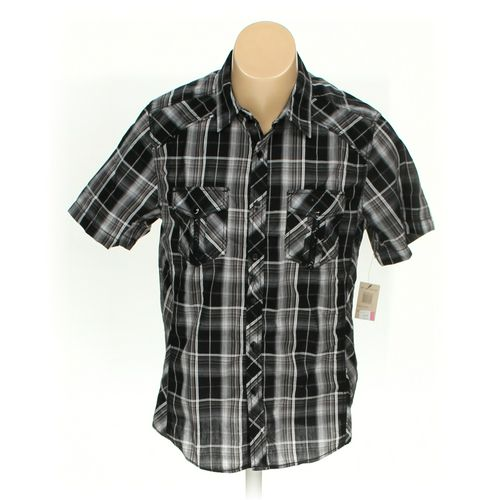 Rustic Blue Button-up Short Sleeve Shirt in size M at up to 95% Off - Swap.com