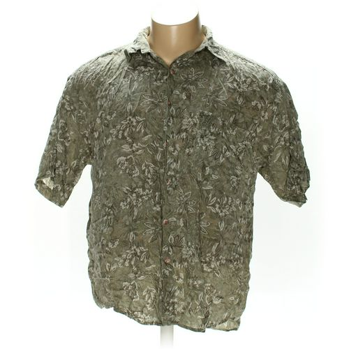 Structure Button-up Short Sleeve Shirt in size XL at up to 95% Off - Swap.com