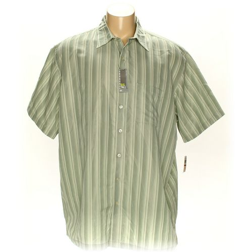 Van Heusen Button-up Short Sleeve Shirt in size 3XL at up to 95% Off - Swap.com