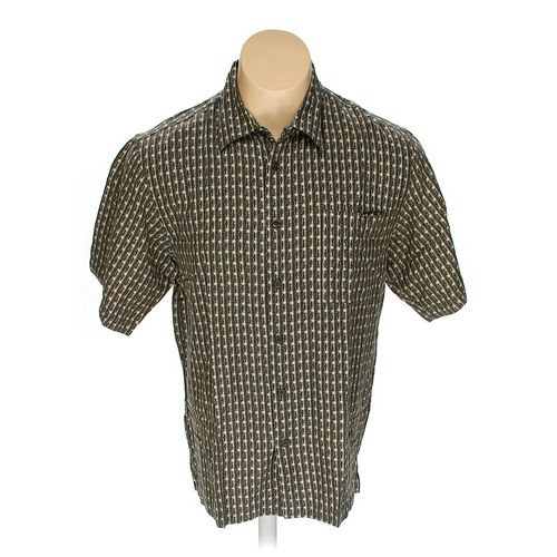 Vintage Silk Button-up Short Sleeve Shirt in size L at up to 95% Off - Swap.com
