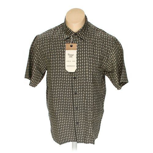Vintage Silk Button-up Short Sleeve Shirt in size XL at up to 95% Off - Swap.com