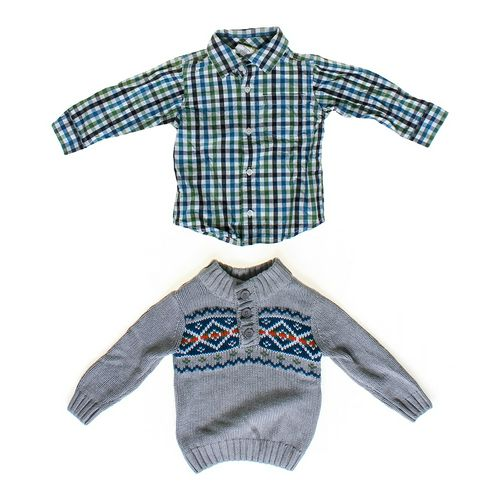 Crazy 8 Button-up & Sweater Set in size 18 mo at up to 95% Off - Swap.com