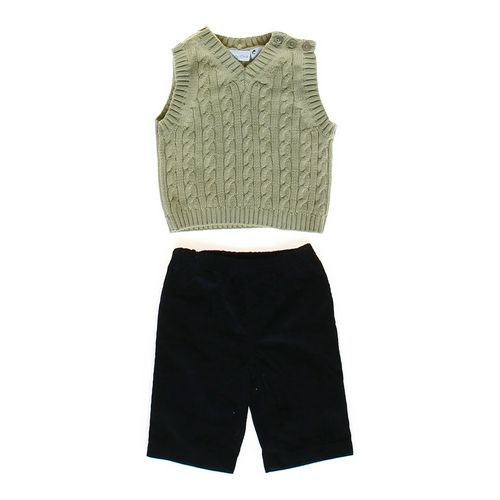 Lullaby Club Cable Knit Vest & Corduroy Pants Set in size 3 mo at up to 95% Off - Swap.com