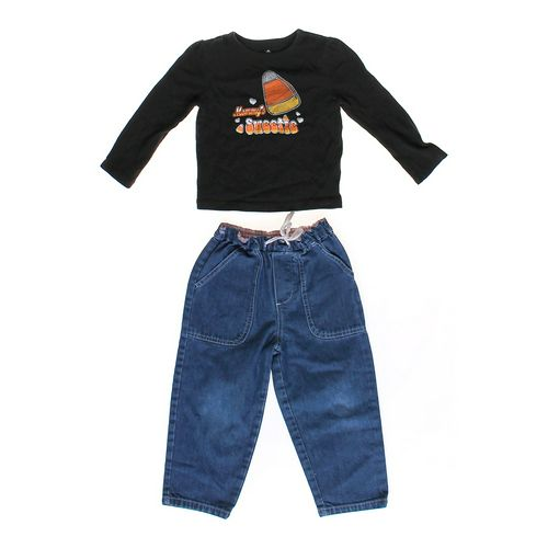 Cherokee Candy Corn Shirt & Jeans in size 24 mo at up to 95% Off - Swap.com