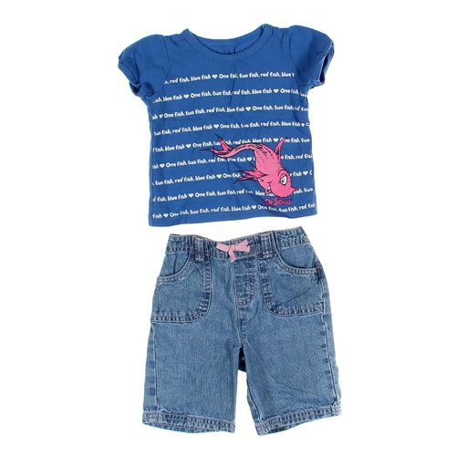 Jumping Beans Capri Pants & Shirt Set in size 12 mo at up to 95% Off - Swap.com