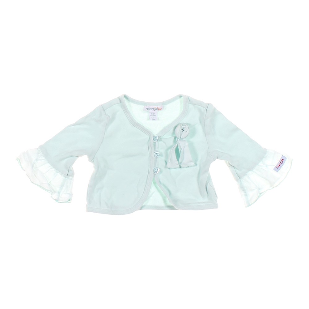 8743fab6a Naartjie Girls Solid Cotton Cardigan, Size 18 mo, Light Blue