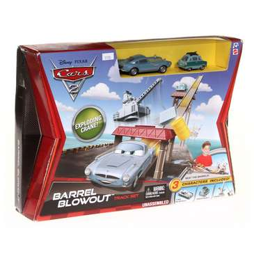 Cars 2 Barrel Blowout Track Set & Vehicle 2-Pack for Sale on Swap.com
