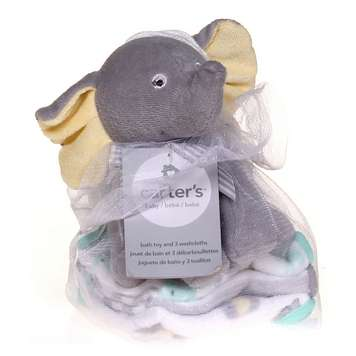 Carters Elephant Bath Toy and Washcloths for Sale on Swap.com