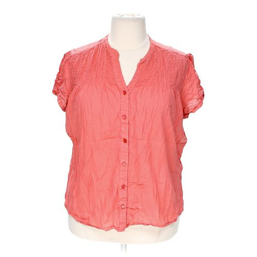 Just My Size Casual Button-up Shirt in size 3X at up to 95% Off - Swap.com