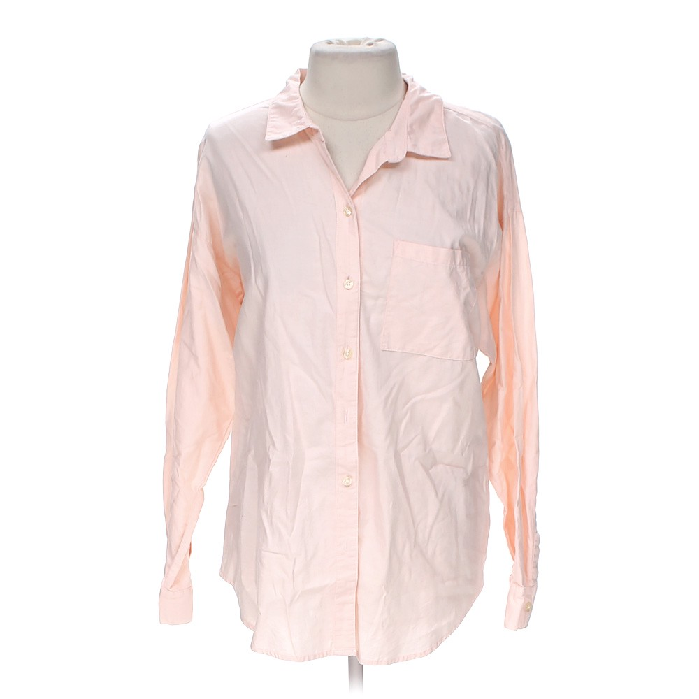 Pink Old Navy Casual Button Up Shirt In Size Xl At Up To