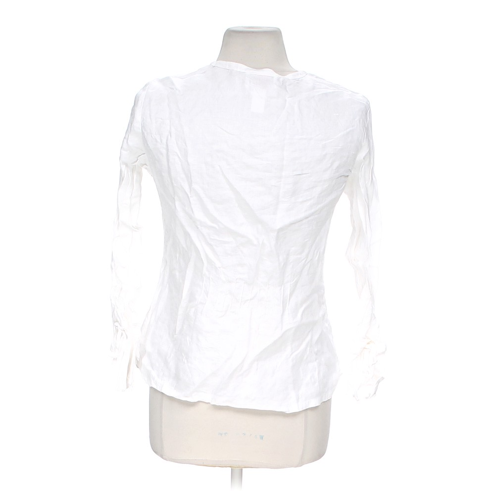 White Talbots Casual Button Up Shirt In Size 10 At Up To