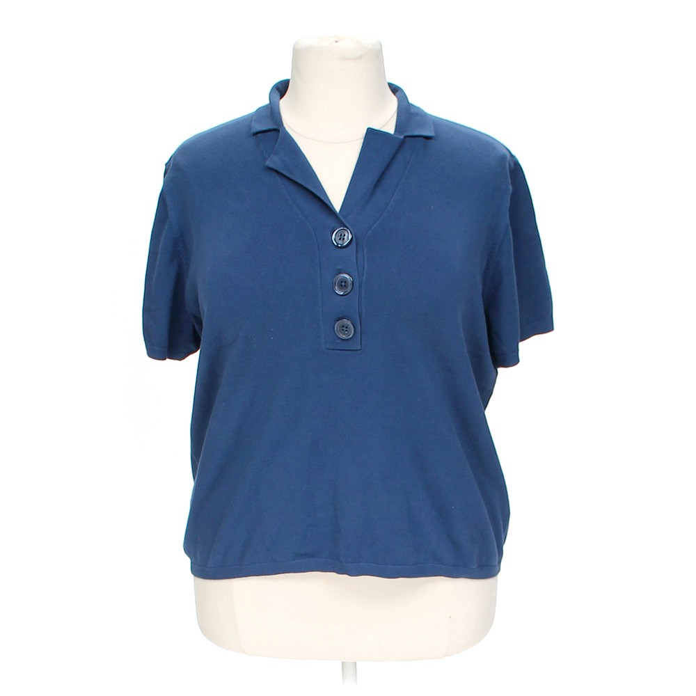 Talbots casual polo shirt in size 3x at up to 95 off for Order company polo shirts