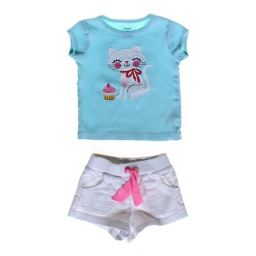 Carter's Cat T-shirt & Shorts Set in size 12 mo at up to 95% Off - Swap.com