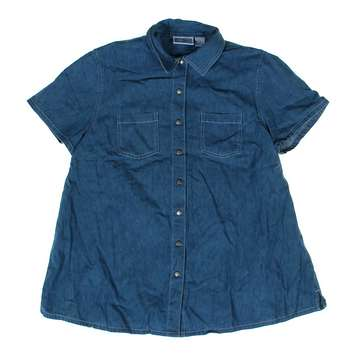 Chambray Maternity Snap-up Shirt for Sale on Swap.com