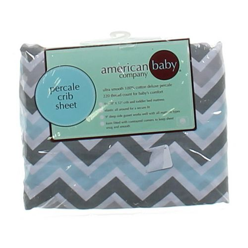 American Baby Co. Chevron Fitted Crib Sheet at up to 95% Off - Swap.com