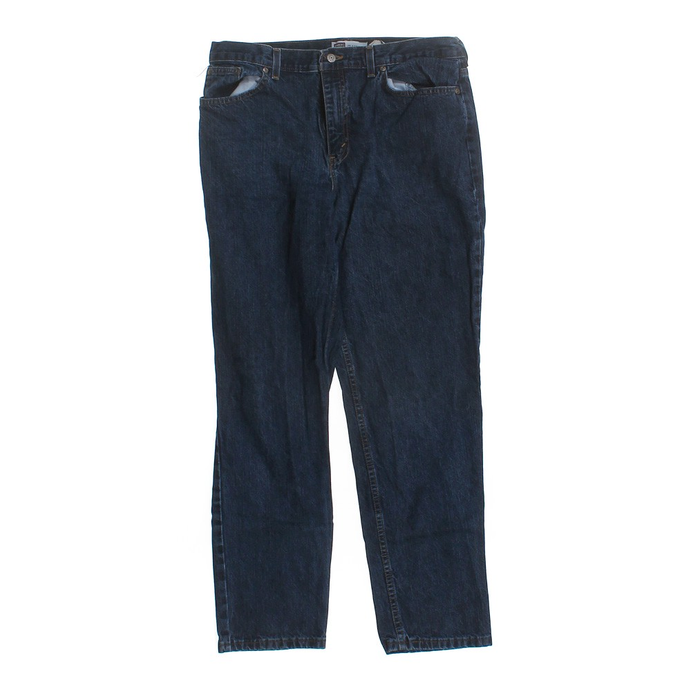 Blue/Navy Faded Glory Classic Fit Jeans in size 14 at up ...