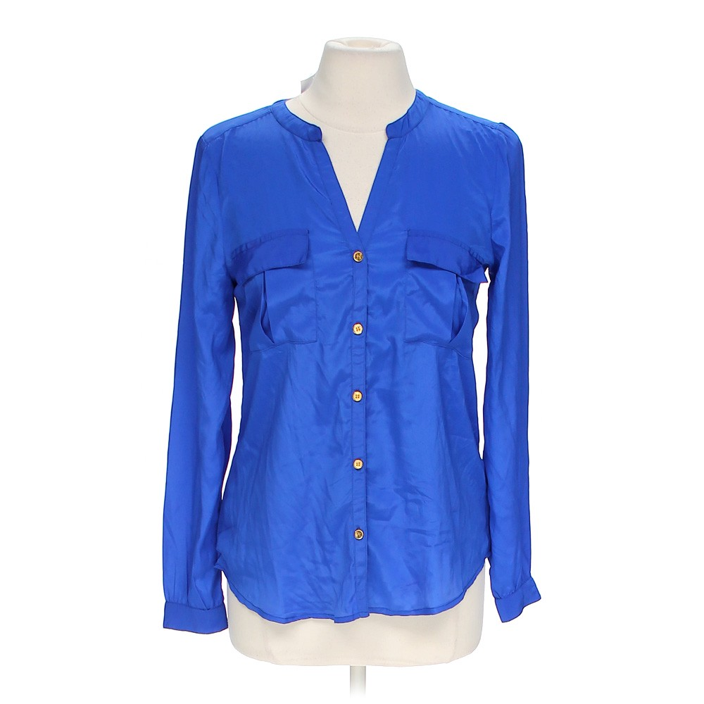 Charlotte russe classy button up shirt online consignment for Polyester button up shirt