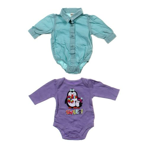 GEORGE Collared Bodysuit & Sweet Penguin Shirt in size NB at up to 95% Off - Swap.com