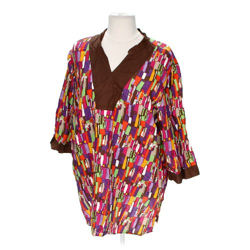 Catherines Colorful Patterned Shirt in size 4X at up to 95% Off - Swap.com