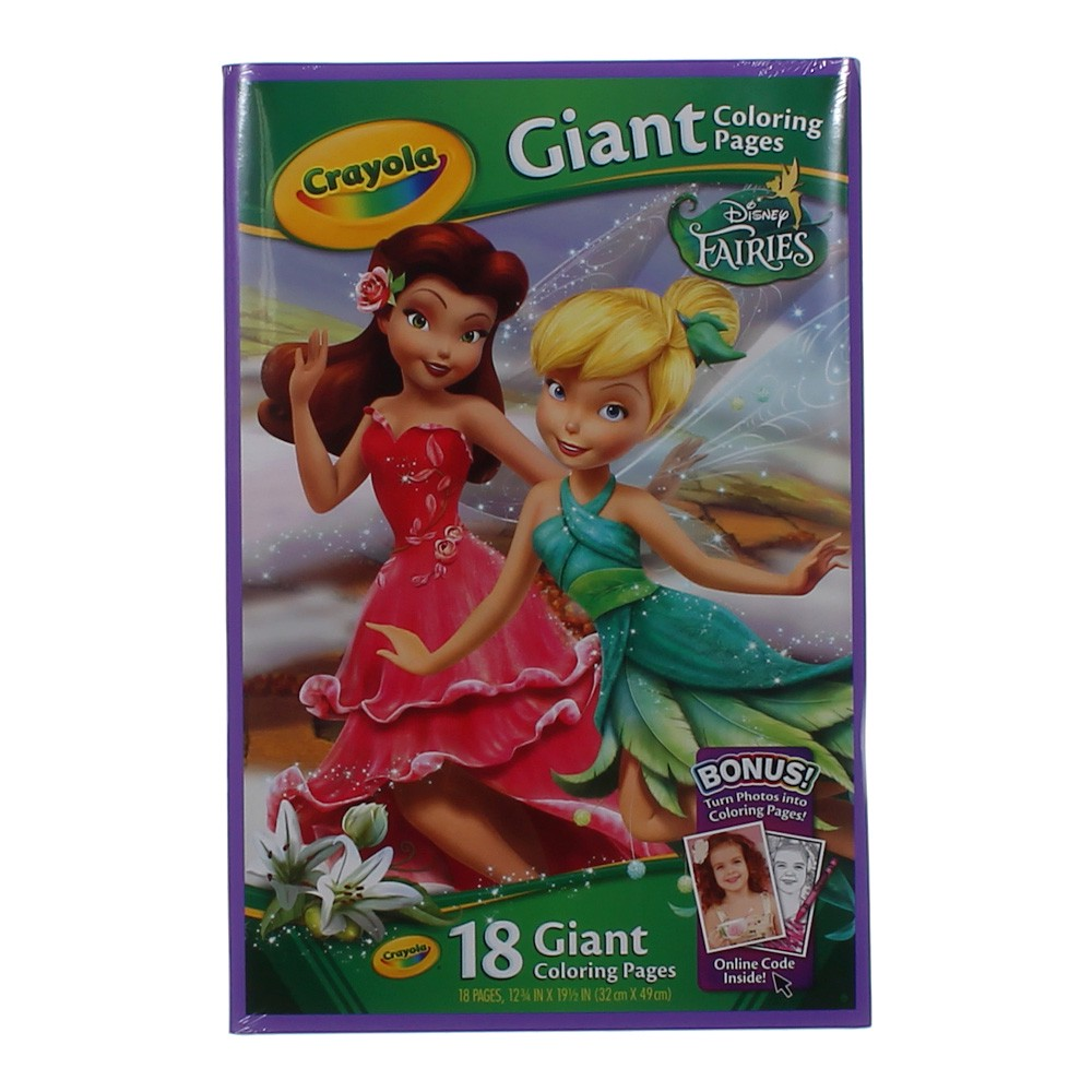 Giant Coloring Pages Disney Fairies : Crayola giant color pages disney fairies at up