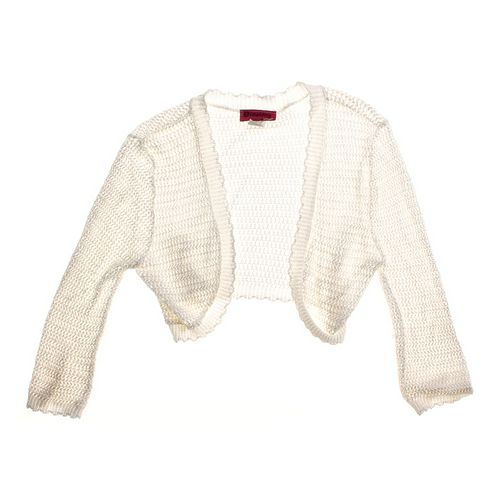 Demanding by Say What? Crop Open Front Eyelet Cardigan in size JR 13 at up to 95% Off - Swap.com