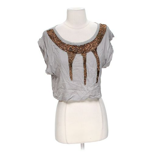 Lush Cropped Embellished Blouse in size S at up to 95% Off - Swap.com