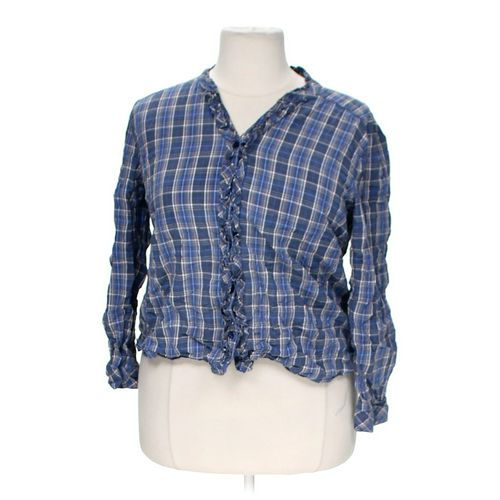 Laura Scott Cropped Plaid Button-up Shirt in size XL at up to 95% Off - Swap.com