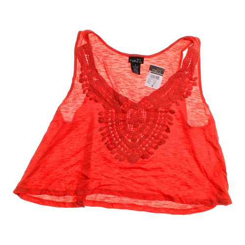 rue21 Cropped Sheer Tank in size JR 3 at up to 95% Off - Swap.com