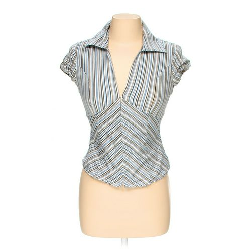 Charlotte Russe Cropped Striped Shirt in size M at up to 95% Off - Swap.com