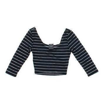 Cropped Striped Shirt for Sale on Swap.com