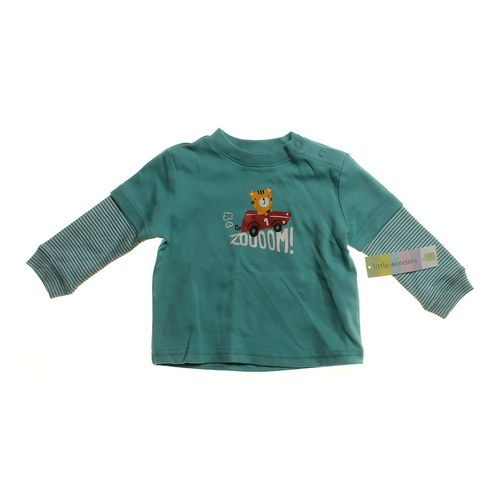 """Little Wonders Cute """"Zoooom!"""" Mock Layer Shirt in size 3 mo at up to 95% Off - Swap.com"""