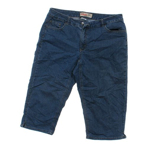 Just My Size Denim Capri Pants in size 16 at up to 95% Off - Swap.com