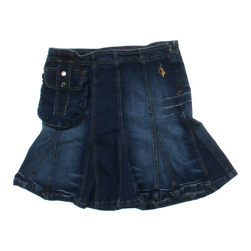 Baby Phat Denim Flare Skirt in size JR 7 at up to 95% Off - Swap.com