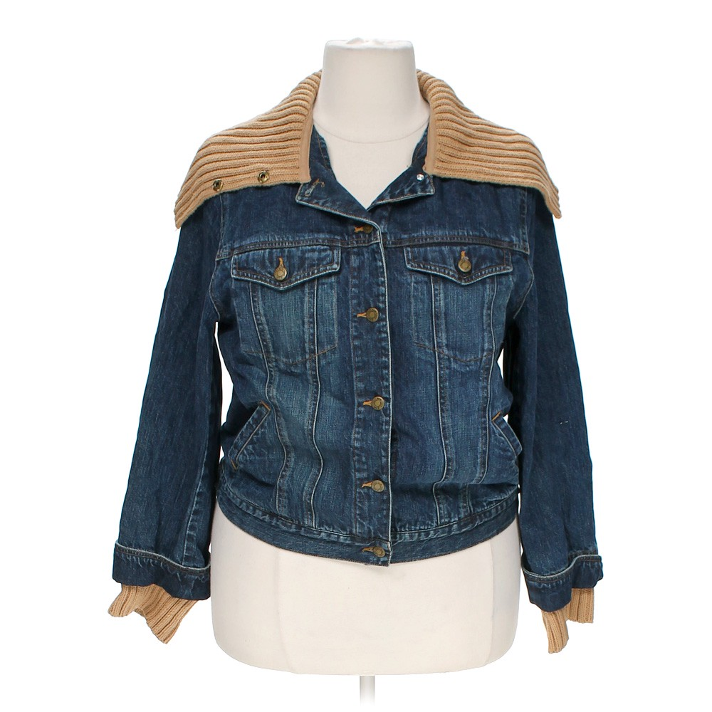 jones new york jeans denim jacket online consignment. Black Bedroom Furniture Sets. Home Design Ideas