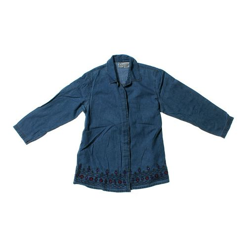 duo Maternity Denim Maternity Button-up Shirt in size M at up to 95% Off - Swap.com